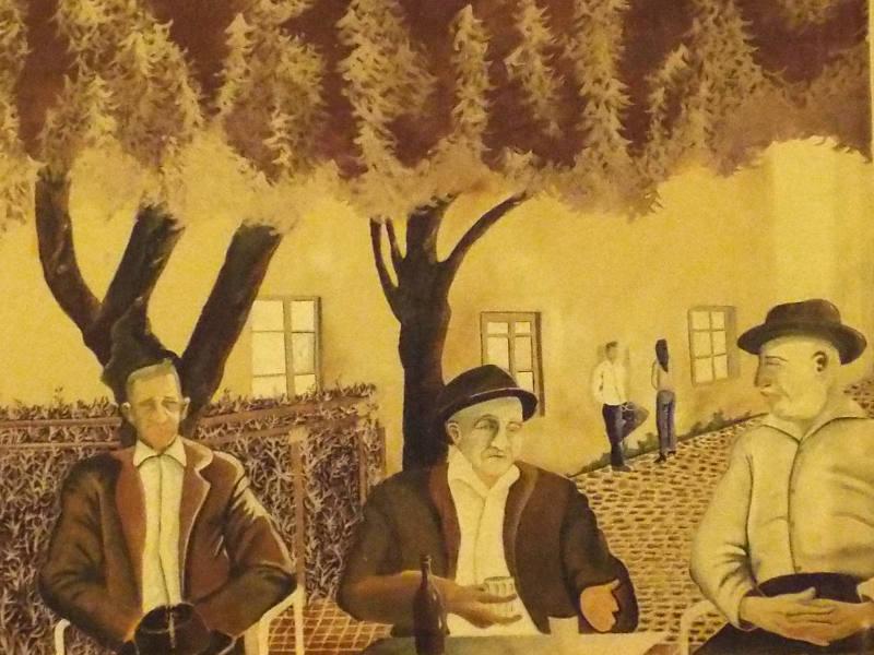 Un murales nella città di Tortolì in Ogliastra